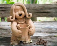 Pottery Lady Doll Royalty Free Stock Image