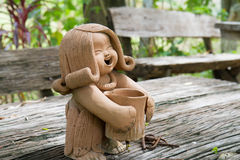 Pottery Lady Doll Stock Images