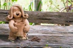Pottery Lady Doll Stock Image