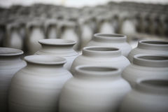 Pottery left to dry Royalty Free Stock Photography