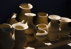 Pottery and light royalty free stock images