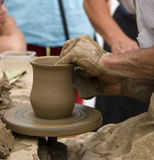 Pottery making Royalty Free Stock Images