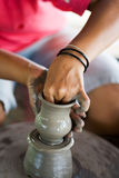 Pottery making stock image