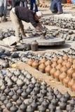 Pottery Making, Bhaktapur, Nepal Royalty Free Stock Photography