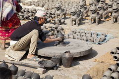 Pottery Making, Bhaktapur, Nepal Stock Photography
