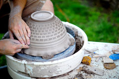 Pottery in the Making Royalty Free Stock Photography
