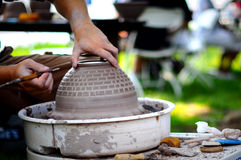 Pottery in the Making Royalty Free Stock Photos
