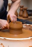 Pottery making Stock Photo