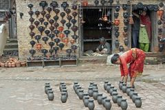 Pottery Market Royalty Free Stock Photos