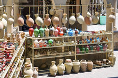 Pottery market Nizwa Royalty Free Stock Photos