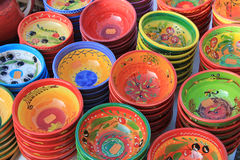 Pottery at a market Royalty Free Stock Image