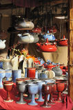Pottery at medieval market, esslingen Royalty Free Stock Photo