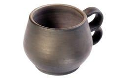 Pottery mug isolated. Stock Images