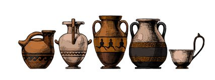 Free Pottery Of Ancient Greece Stock Image - 161676501