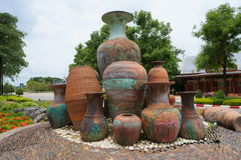 Pottery in the park Royalty Free Stock Photo
