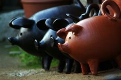 Pottery pigs Royalty Free Stock Images