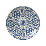 Pottery plate. An image of a nice blue pottery plate Royalty Free Stock Photo