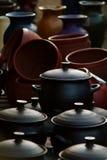 Pottery pots royalty free stock photography