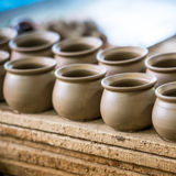 Pottery product in produce step Stock Photos