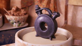 Pottery  product rotating stock video footage