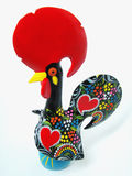 Pottery Rooster. On a white background Stock Images