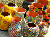 Pottery for sale in Bucharest Royalty Free Stock Photography