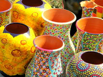Pottery for sale. In the historic center of Bucharest Royalty Free Stock Photography