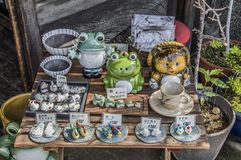 Pottery For Sale royalty free stock photos