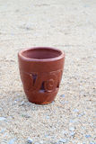 Pottery on the sand Royalty Free Stock Photo