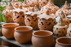 Pottery for sell royalty free stock photos