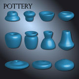 Pottery set. Available in vector Royalty Free Stock Images