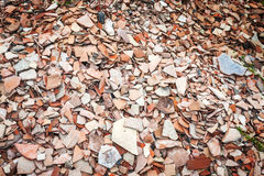 Pottery Shards at Archeological Dig in Turkey Royalty Free Stock Photo