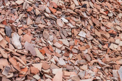 Pottery Shards at Historic Site in Turkey Stock Photography
