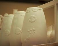 Pottery On Shelf Royalty Free Stock Photos