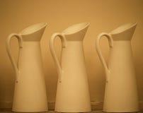 Pottery On Shelf Royalty Free Stock Photography
