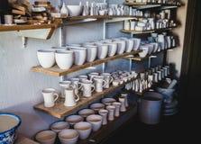 Pottery shelf Stock Images