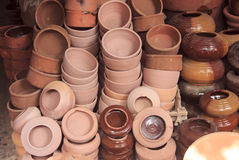 Pottery in small shop,Egypt Stock Photo