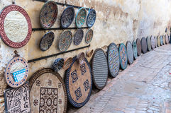 Pottery and souvenirs market in Morocco Royalty Free Stock Image