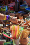 Pottery and spice store Royalty Free Stock Photos