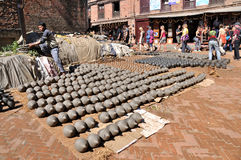 Pottery Square at Bhaktapur Stock Photos