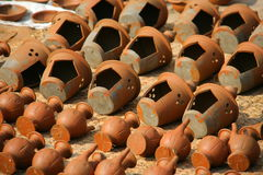 Pottery Square in Bhaktapur, Kathmandu, Nepal.  Royalty Free Stock Photos