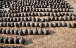 Pottery square in Bhaktapur. Kathmandu valley, Nepal Royalty Free Stock Image