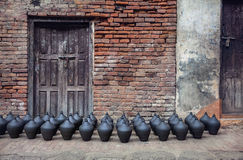 Pottery square in Bhaktapur Stock Photos