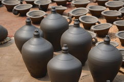 Pottery square in Bhaktapur, Nepal Royalty Free Stock Photography