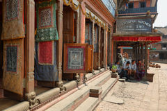 Pottery Square in Bhaktapur town, Nepal Royalty Free Stock Photos