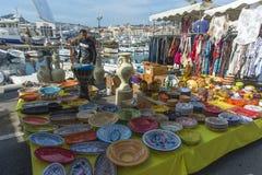 Free Pottery Stall La Ciotat Sunday Market Stock Photography - 41259872