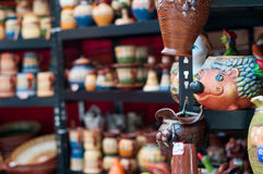 Pottery stand Royalty Free Stock Image