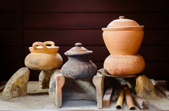 Pottery still life Royalty Free Stock Photo
