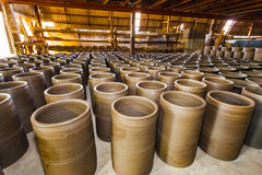 The pottery stock in the store Royalty Free Stock Photo