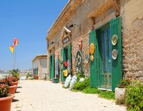 Pottery store. Store selling traditional pottery in Sicily, Italy Stock Photos